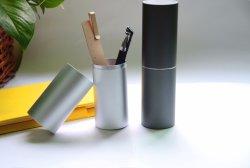 Cassa di alluminio della penna di alta qualità all'ingrosso per il contenitore di regalo della scatola di presentazione dell'imballaggio della matita del regalo per la cancelleria dell'ufficio del supporto della penna della penna