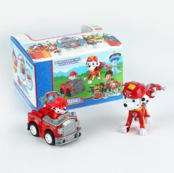 Cutie dibujos animados de rescate de la Patrulla Puppy Racers Alquiler de coches de juguete para niños de plástico