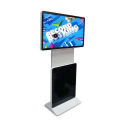 43 Commercial 55 inch écran Rotation permanent plancher Vertical Multi Media Totem de signalisation numérique à écran tactile