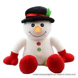 Assis mignon Soft Stuff Bonhomme de neige pour les enfants de jouets de Noël