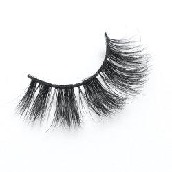 Trucco voluminoso Handmade trasversale nero blu 100% del Brown del visone dei cigli falsi spessi artificiali lungamente sferze dell'occhio di 5 accoppiamenti