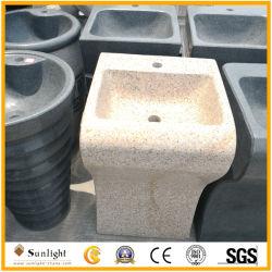 Piedra de granito Amarillo natural al aire libre lavabo y lavamanos en venta