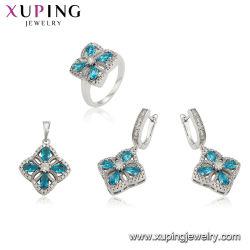 Bijoux de luxe de mode Ruby définie avec la couleur de rhodium