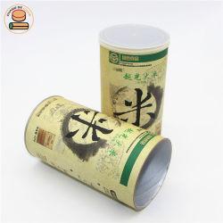 Custom Food Grade крафт-бумаги цилиндра пустые контейнеры для 500g порошок пакет продуктов питания
