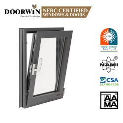 Australischer thermischer Standardbruch-Aluminiumneigung-Drehung-Fenster-Entwürfe in der Kerala-neues Fenster-Gitter-Entwurfs-Flügelfenster-Tür u. Windows