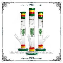 Rasta спираль катушки Perc кристаллического фундамента 14 дюймов прямая трубка курения табака Hookah стеклянной трубки подачи воды