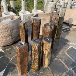 Dia15-20cm Skinny Basalto Natural Fuente de agua interiores