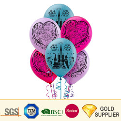 Imprimible publicidad magia inflables Helio cilíndrico de lámina de goma de Mylar tamaño diferente de perforación de látex juguete de niños Boda Juego de decoración de globos de agua