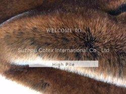 Helle Farben-hoher Stapel-Pelz für Kleid