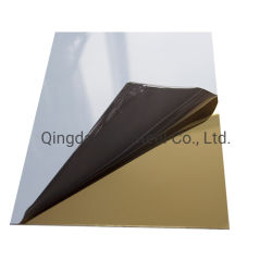 Grado 304 Color estampado y relieves decorativos de acero inoxidable Oro