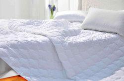 Commerce de gros 100% coton matelassé tampon étanche protecteur de matelas élastique bandes d'ancrage