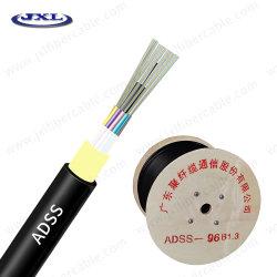 Enige Optische Kabel 12 van de Vezel van de Wijze ADSS Optische Draad van de Vezel van 24 48 Fibra Optica G657A/G652 de Lucht