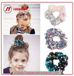 Amazon Two-Color Vente chaude Mermaid paillettes cravate pour adultes et enfants de Bande de Cheveux Cheveux Hairband anneau