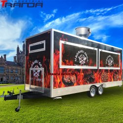 Helados Mini personalizado camiones de comida China Mobile alimentos remolques de acero inoxidable Carro Hot Dog Carretas vender en China