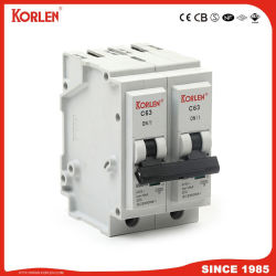 Knb6-63 stop-in Mini Circuit Breaker met Silver Contact MCB 6A-63A IEC60898