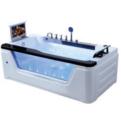 Hot Sale Personne seule Whirlpool Surf baignoire de massage avec lecteur de DVD