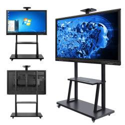 Calculador do monitor de LCD sensível ao toque quadro branco interativo interior apresenta para a Educação