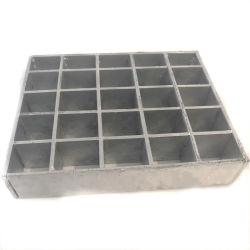 Los materiales de construcción Heavy Duty Pulse la barra de rejilla de acero rejilla bloqueada por la banda de rodadura de la escalera