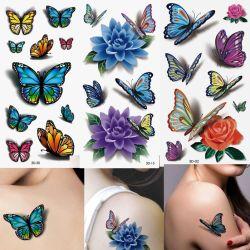 autoadesivo falso Colourful del tatuaggio 3D