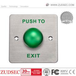 Conception à fond à tête bombée en acier inoxydable de commutateur à bouton poussoir électrique de porte