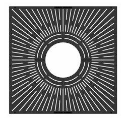 Soem-im FreienRoheisen-Abfluss-Gitter-Roheisen-Quadrat-Baum-Gitter