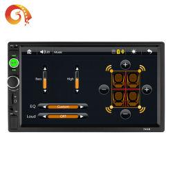 Fcatoryは7アンドロイドのためのインチ2 DIN車エムピー・スリーMP4 MP5 7010プレーヤーのフォーマットのBluetooth車キットのビデオ音声を供給するまたはIosの電話は車プレーヤーを接続する