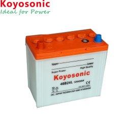 Koyosonicのカー・バッテリー46b24L 12V 45ahの乾燥したセルカー・バッテリーの広州のカー・バッテリーの工場自動電池45ah