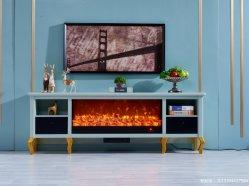 緩和された暖炉のガラス装飾の炎の電気ストーブのヒーター(357S)が付いている電気暖炉TVのキャビネット
