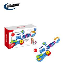 Nettes Baby-Plastikmusikinstrument-dynamische Spielzeug-Gitarre mit Musik und Licht