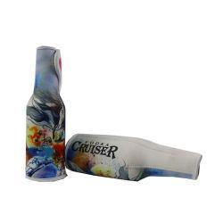 Impresas por sublimación de bebida de neopreno grueso puede titular de la botella de cerveza