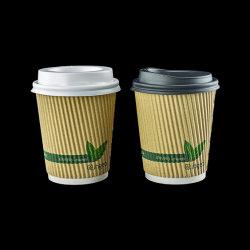أكواب ورقية للقهوة مبسولة على شكل مثلث/متموجة مع الحفاظ على البيئة