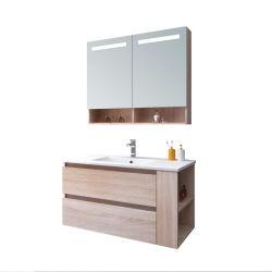 Grãos de madeira MDF pega gratuito via macio Armário Multi-Bathroom espaço de armazenamento