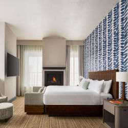 De moderne Stevige Houten Reeks van de Slaapkamer van het Hotel van het Meubilair van de Zaal van het Eenspersoonsbed
