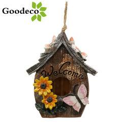 Goodeco Papillon et Fleurs Bienvenue Hand-Painted décoratifs Birdhouse