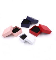 Coffrets à bijoux carton Necklace Earrings Bracelet Bague case définit l'emballage de vente à bas prix boîte cadeau avec une éponge