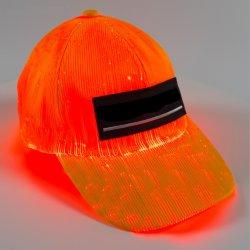 Tecido de Fibra Óptica piscando o beisebol Hat acende Fibra luminescente