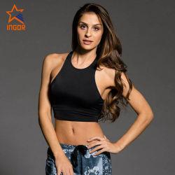 De Bustehouder van de Sporten van de in het groot Vrouwen van de Slijtage van de Yoga van de Gymnastiek van de Fitness van Strappy van de Douane Sexy Duidelijke Zwarte