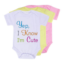 Sublimación bebé Romper Niño Camisetas hombres T-Shirt Dama ropa