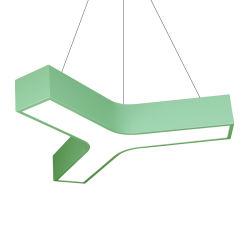 600mm 2019 새로운 디자인 가벼운 현대 바 회의실 사무실 샹들리에를 거는 기하학적인 Y 모양 철 LED 천장