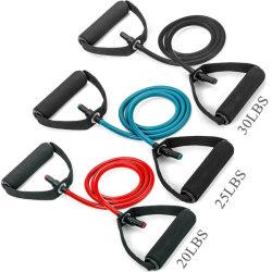 Faixa de Resistência do tubo de látex Puxadores de espuma para treino de força pesada Ginásio Fitness equipamentos de exercício inicial