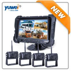 Nouvelle et chaude voiture sans fil HD 720p Vue arrière du système de caméra avec 7pouce Split & moniteur TFT Quad View DVR intégré