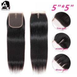 Angelbella Indian Lace Closures Silky Straight Virgin Hair Closures