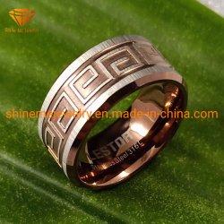 Верхней Части стандартов качества ювелирных украшений из нержавеющей стали коричневого цвета титановые кольца кольца из нержавеющей стали SSR2036