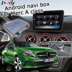 Interfaccia video del sistema di navigazione GPS Lsailt Android per Mercedes-Benz A. Classe NTG 5.0 Comand Audio20 YouTube Waze Yandex CarPlay Android Auto opzionale