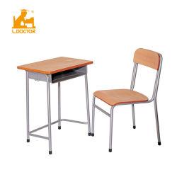Hölzerner preiswerter Furnierholz-Kursteilnehmer-Schulmöbel-Lieferanten-Schreibtisch und Stuhl für Verkäufe