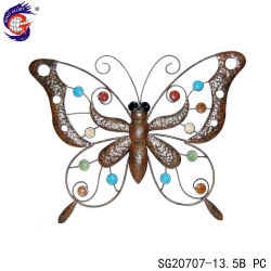 3D الجدار الفن Hangings Metal Butterfly Statue for Home Decoration