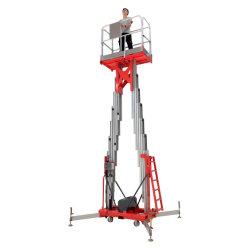 이동할 수 있는 알루미늄 공중 일 플래트홈 유압 수직 두 배 돛대 상승