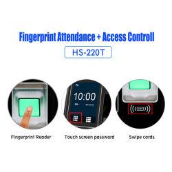 Tempo de Impressão Digital IP TCP e da presença do dispositivo de controlo de acesso biométrico (HS-220T)