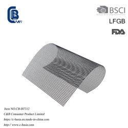 La alta temperatura para uso alimentario de fibra de vidrio PTFE Barbacoa forro de malla de cocción