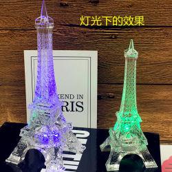 Regalo di Natale acrilico della Torre Eiffel LED